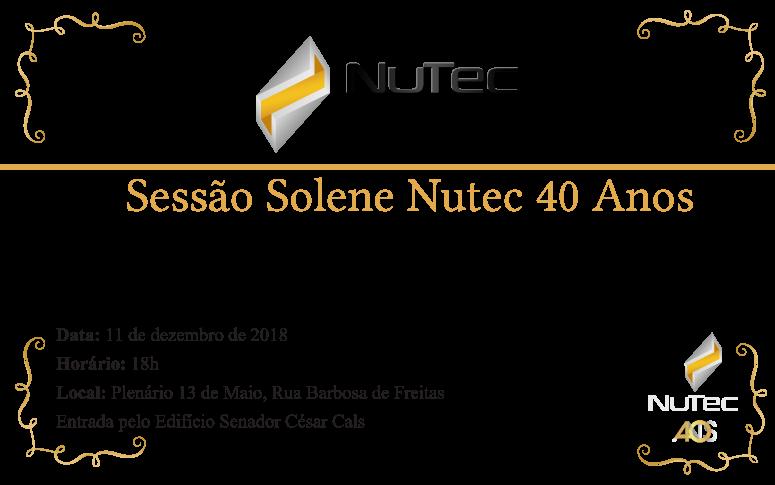 Sessão Solene em comemoração aos 40 anos do Nutec