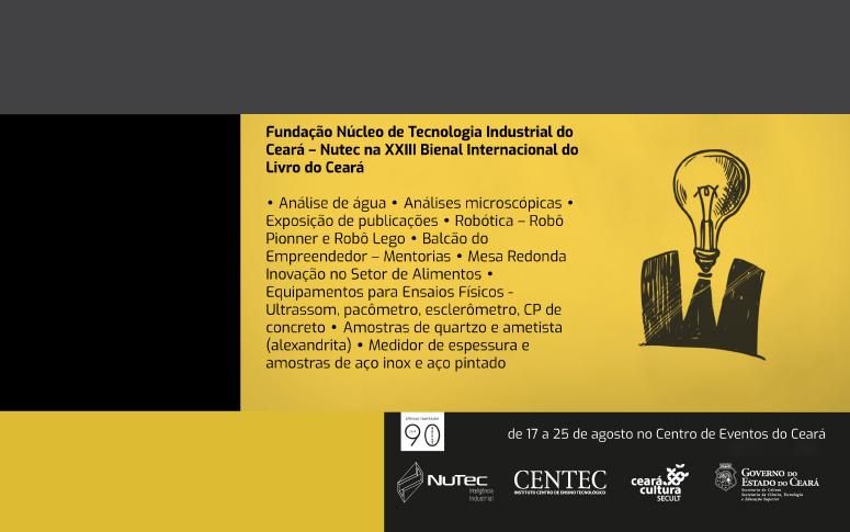 Nutec promove mesa redonda na XIII Bienal Internacional do Livro do Ceará