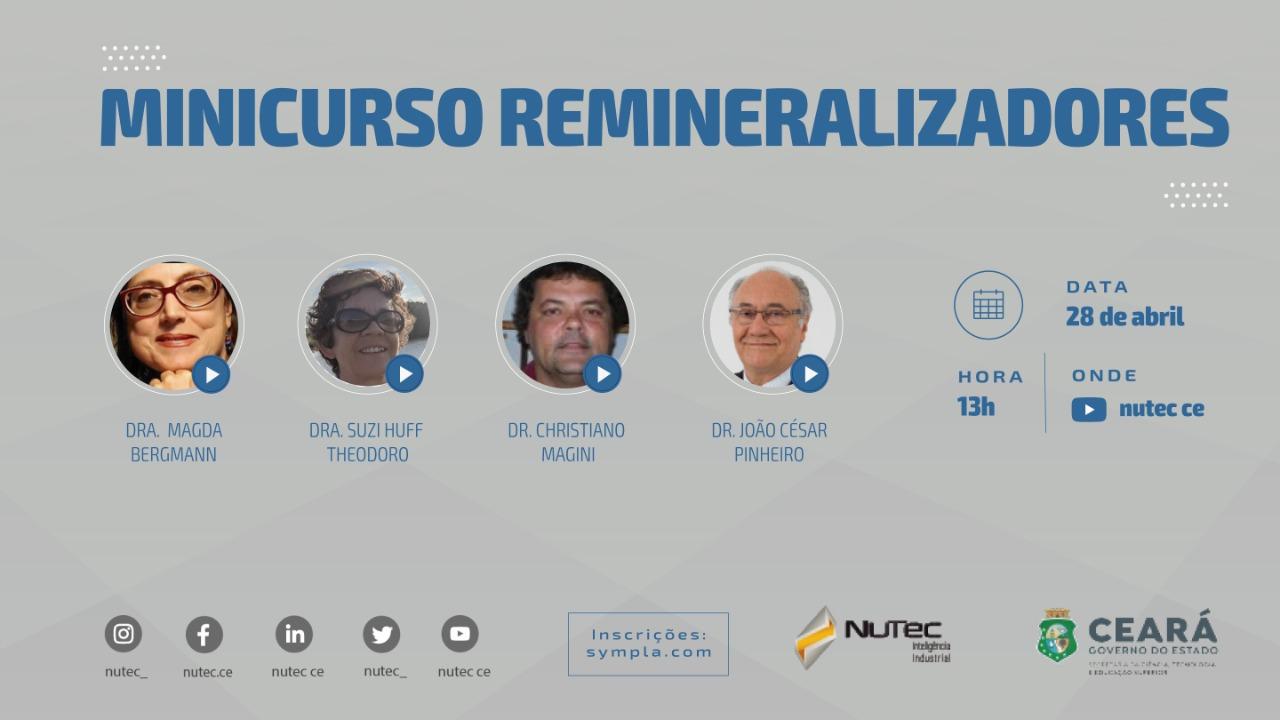 Nutec promove minicurso gratuito sobre remineralizadores